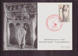 CARTE FDC DU 7 DECEMBRE 1963 BORDEAUX CENTANAIRE DE LA CROIX ROUGE FRANCAISE - Cartes-Maximum