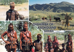 1 AK Namibia * Ovahimba Im Kaokoland - Junger Hirte, Rinderfarmer Auf Dem Van Zyls Pass, Frauen Und Jungen Trad. Dress * - Namibia