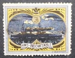 Great Britain 1916 Military Vignette HMS Indomitable - Cinderellas