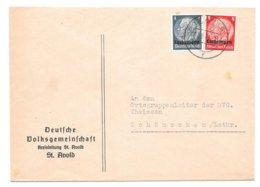 ST AVOLD - HINDENBURG (8 + 4 Pf) - 1941 - Elsass-Lothringen
