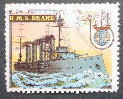 Great Britain 1916 Military Vignette HMS Drake - Cinderellas