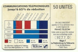 Francia - Tessera Telefonica Della Francia Da 50 Units - T635 - Telefoni