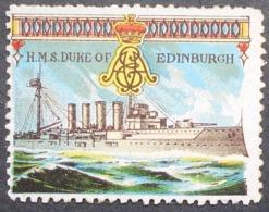Great Britain 1916 Military Vignette HMS Edinburgh - Cinderellas