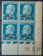 FRANCE - MNH - YT 222 - Pasteur Coin Daté Du 10.3.26 - Dated Corners