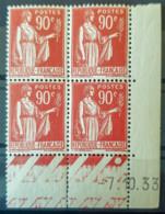 FRANCE - MNH - YT 285 - Paix Coin Daté Du 7.10.33 - Dated Corners