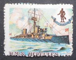 Great Britain 1916 Military Vignette HMS Hercules - Cinderellas