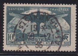 FRANCE -  N°321 - TRAVERSEE DE L'ATLANTIQUE. Oblitéré. TB. Cote 150€. Signé CALVES. - France