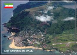 1 AK Äquatorial-Guinea * Ansicht Der Insel Annobon - Blick Auf San Antonio De Palé Und Den Airport Annobon * - Äquatorial-Guinea