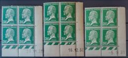 FRANCE - MNH - YT 174 - Pasteur Coin Daté Du 29.11.26, 16.12.30, 5.9.31 - Dated Corners