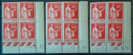 FRANCE - MNH - YT 283 - Paix Coin Daté Du 4.8.32, 8.1.36, 28.6.37 - Angoli Datati