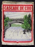Patch Écusson Tissu Touristique : Belgique - Cascade De Coo - Commune De Stavelot - Ecussons Tissu