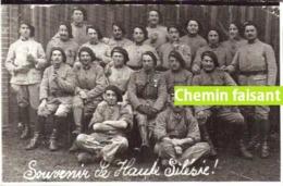"""Photographie De Militaires Légendée """" 12e Hussards, Février 1920 Hte Silésie""""  - Scans Recto-verso - Guerre, Militaire"""