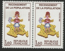 Paire / N° 2202a Variété Sans Le 7 Sur La Corse + 2202. Neuf Sans Charnière ** MNH. TB - Varieties: 1980-89 Covers & Documents