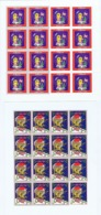 Denmark; Local Christmas Seals - Elleore, 1999 & 2000, 2 Self-adhesive Full Sheets  MNH **, Not Folded, - Feuilles Complètes Et Multiples