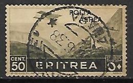 ERYTHREE    -   Poste Aérienne  -   1936 .   Y&T N° 19 Oblitéré.  Avion - Erythrée