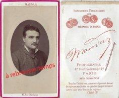 CDV Vers 1880-portrait D'homme à L'habillement étonnamment Moderne- Artiste? Photo Mandar à Paris - Old (before 1900)