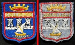 Patch Écusson Tissu Touristique : France - COLLIOURE - Blason - Ecussons Tissu