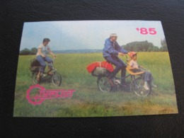USSR Soviet Russia Pocket Calendar Tourist 1985 - Calendarios