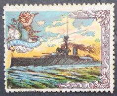 Great Britain 1916 Military Vignette HMS Thunderer - Cinderellas