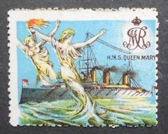 Great Britain 1916 Military Vignette HMS Queen Mary - Cinderellas