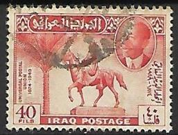 IRAQ     -   U. P. U.  Statue D'un Cavalier .  Oblitéré - Iraq