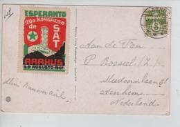 PR7273/ TP 8 Ore CP Aarhus C.Aarhus 1947 + Cinderella Esperanto 20a Kongreso > Nederland Arnhem - Esperanto
