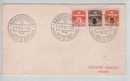 PR7274/ Denmark Cover Tricolor Stamps C.Kobenhavn 1956 Universala Kongreso De Esperanto > Tollose - Esperanto