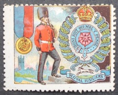Great Britain 1916 Military Vignette Royal Fusiliers - Cinderellas