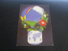 USSR Soviet Russia Pocket Calendar Nature Earth 1988 - Calendarios