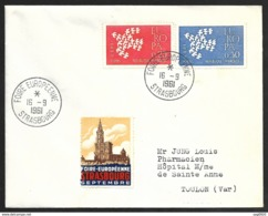 Enveloppe Avec Cachet Foire Europeenne Strasbourg 1961 - Poststempel (Briefe)