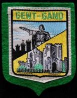 Patch Écusson Tissu Touristique : Belgique - Gent - Gand - Le Géant Et Le Château - Ecussons Tissu