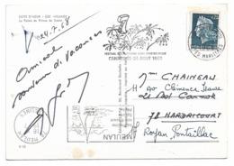 Variété Cachet Sans L'année (Flamme Meulan Yvelines 1968) Sur Cpsm 06 Eze Village - Le Palais Du Prince De Suède - Curiosidades: 1960-69 Cartas