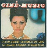 """45 Tours EP - 4 B.O. De Film """" LA COMTESSE DE HONG KONG """" LES DEMOISELLES DE ROCHEFORT """" Dr. JIVAGO """" UN HOMME ET UNE FE - Musica Di Film"""