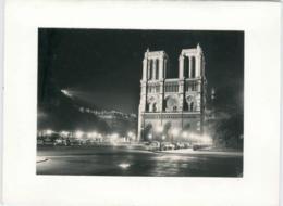 Carte-Photo Double Notre-Dame De Paris Automobiles Début Années 60 Photedit TBE - Maps