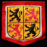 Patch Écusson Tissu Touristique : Belgique - Hainaut - Les Provinces - Sur Cuir Retourné Rouge - Ecussons Tissu