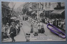 Lot De 15 Cartes Numérotées De 1 à 15 : Procession De La Paroisse De L'immaculée Conception,église à BRUXELLES - Christianisme