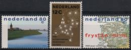 Netherlands 1962 1998 Scott 392 998 999 MNH, Telephone Network, Friesland, Water Management - Neufs