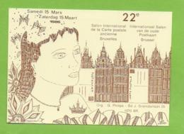 Illustrateur Jean Luc Perrigault .Bruxelles .22é Salon De La Carte Le Samedi 15 Mars 1968. - Belgique