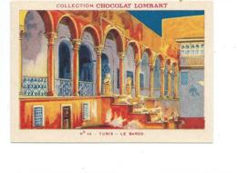 Chromo Tunisie Tunis Le Bardo Didactique Au Dos Colonies Françaises Pub Chocolat Lombart 2 Scans TB - Lombart