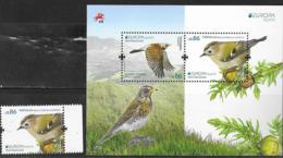 AZORES, PORTUGAL,  2019, MNH, EUROPA, BIRDS, MOUNTAINS,  1v+SHEETLET - 2019