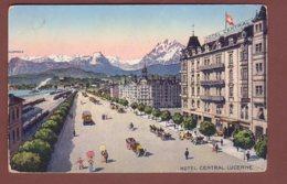 LUZERN - Central Hotel // Kleiner Eckbug // - LU Lucerne