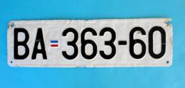 MONTENEGRO Ex Yugoslavia (SRJ) - BERANE - Old License Plate * USED ONLY 1998.y * Savezna Republika Jugoslavija RRR - Number Plates