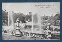 Esposizione Di Torino 1911 - Fontana Luminosa - Expositions