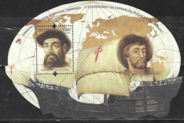 PORTUGAL,  2019, MNH, JOINT ISSUE WITH SPAIN, MAGELLAN, GREAT EXPLORERS, SHIPS, S/SHEET - Joint Issues