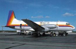 1 AK Flugzeug Aerodrome Airport * British Aerospace (HS) 748-209 Srs 2A Of First Air At Yellowknife Canada N.W.T 8/1991 - Aerodrome