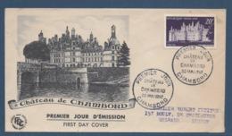 France FDC - Premier Jour - Château De Chambord - 1952 - FDC