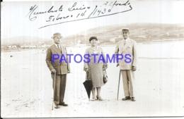 120498 URUGUAY PIRIAPOLIS VISTA PARCIAL & COSTUMES MAN'S & WOMAN YEAR 1930 POSTAL POSTCARD - Uruguay