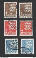 Dänemark 1946, Mi.-Nr. 289-291 X+y, Gestempelt - 1913-47 (Christian X)