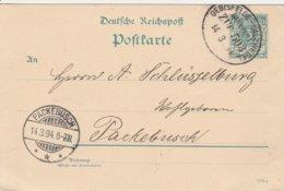 Allemagne Ambulant Oebisfelde-Salzwedel Sur Carte 1894 - Briefe U. Dokumente
