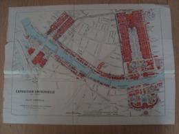 CARTE DE L'EXPOSITION UNIVERSELLE DE 1900  A. TARIDE - Mapas Geográficas
